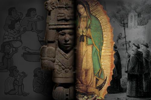 virgen de guadalupe y aztecas