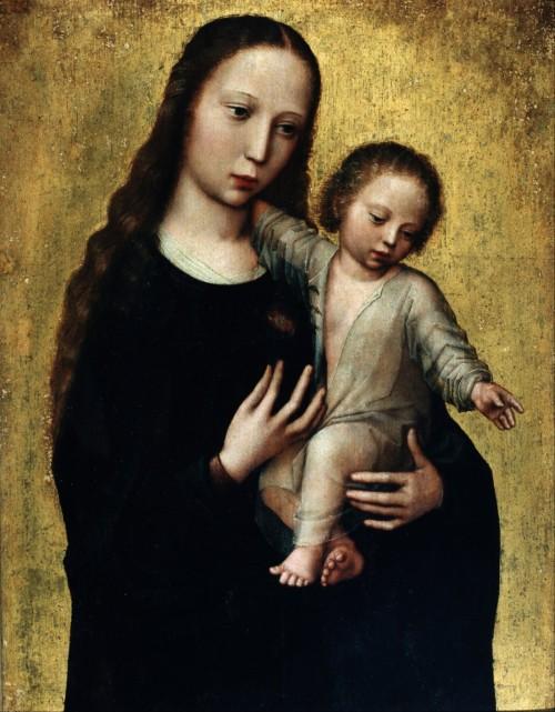 LA VENERACIÓN DEL NOMBRE DE MARÍA Benson-la-virgen-maria-y-el-ni%C3%B1o-fondo1-500x641