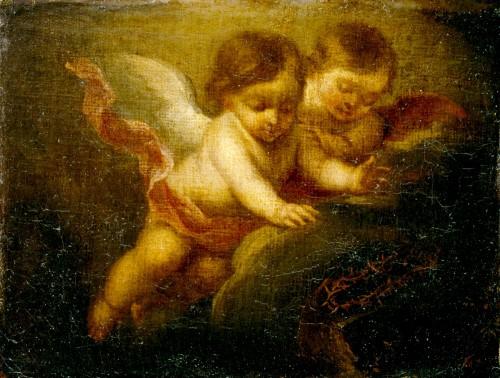 Murillo dos angeles niños fondo