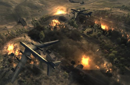 aviones bombardeando