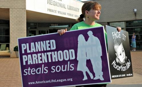 banner contra planned parenthood en eeuu