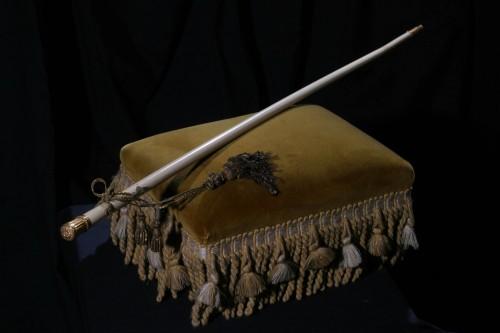 baston de mando del general belgrano dado a la virgen de la merced de tucuman fondo
