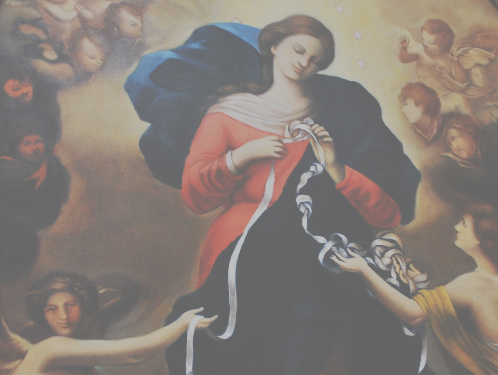 Nuestra Señora que Desata los Nudos, devoción del papa Francisco, Alemania (8 dic, 28 sep)