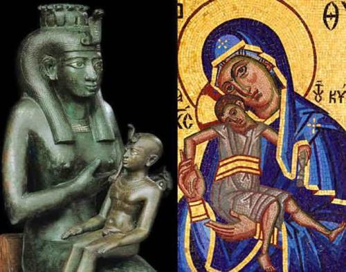 isis y virgen maria