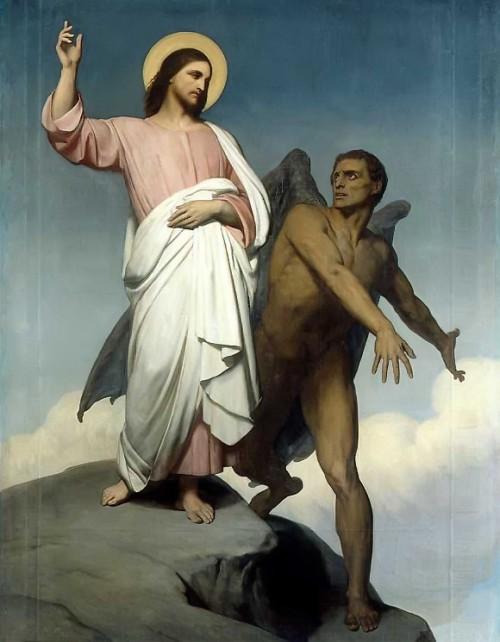 jesus y el diablo en el desierto