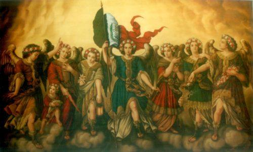 pintura mexicana de arcangeles