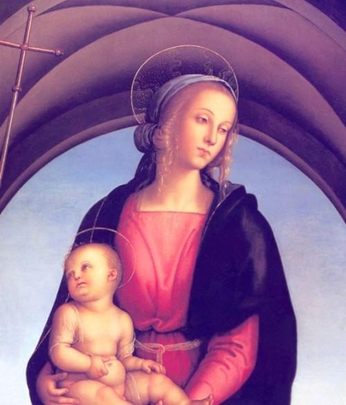 Conmemoración de los Privilegios dados por Dios: Fiesta del Dulce Nombre de Maria, Universal (12 de septiembre) Virgen-maia-y-ni%C3%B1o-perugino-500x586