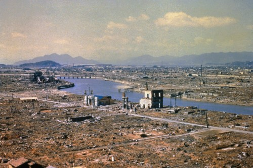 vista de hiroshima luego de la bomba
