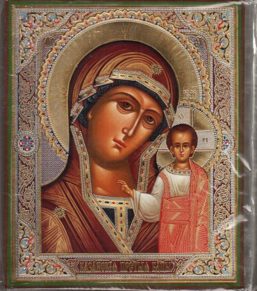 Kazanskaya icon of Mother of God Wood