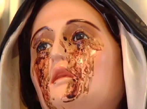 Madonna di Giampilieri lagrimas de sangre