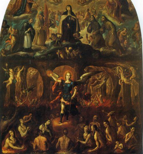 Maria, San Miguel y las almas del purgatorio