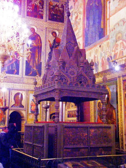 Trono del Zar en la Catedral de la Dormición