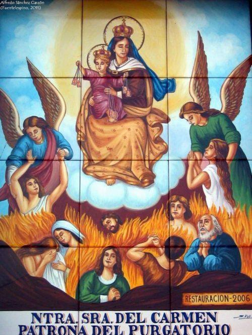 Virgen del carmen Purgatorio