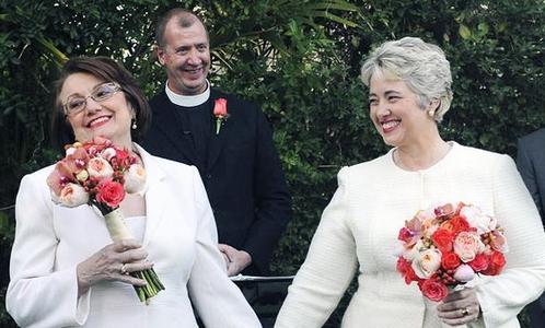 alcaldesa de houston y su esposa