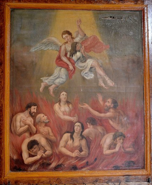 angel saca a almas del purgatorio