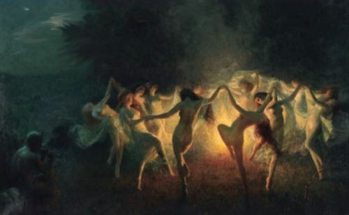 brujas satanicas bailando