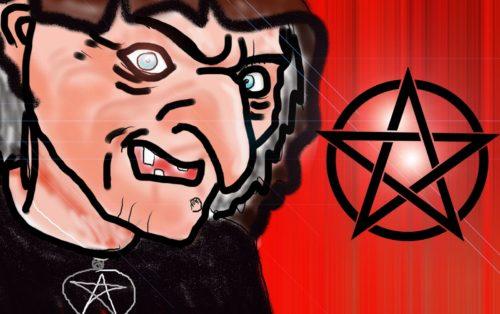 caricatura de bruja satanica
