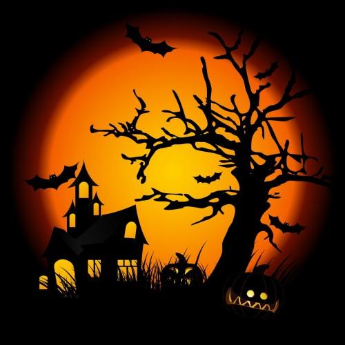 casa de halloween fondo