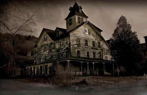 casa embrujada fondo