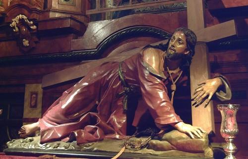 cristo carga la cruz fondo
