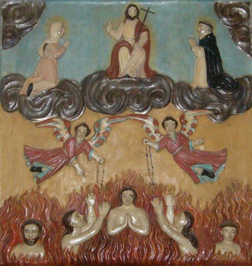 cuadro de almas del purgatorio