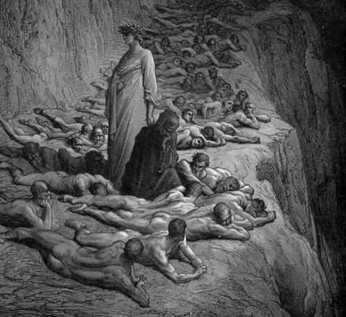 dibujo almas del purgatorio