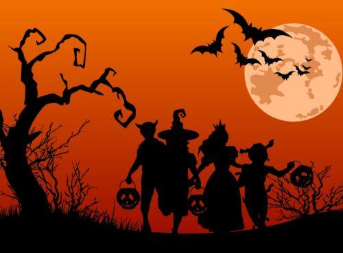 dibujo de familia en halloween