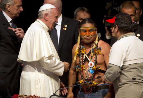 encuentro del papa francisco con indigenas