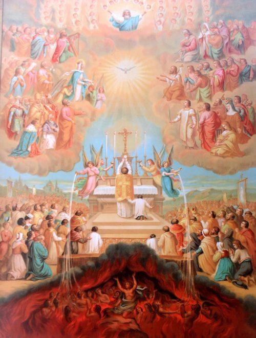 misa por los difuntos purgatorio