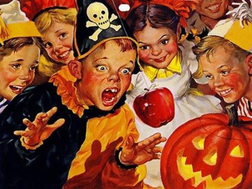 morder la manzana halloween
