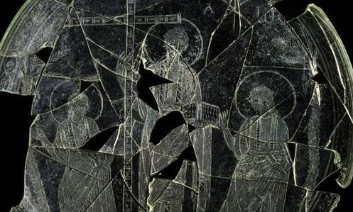 patena con la imagen de Cristo en Magestad