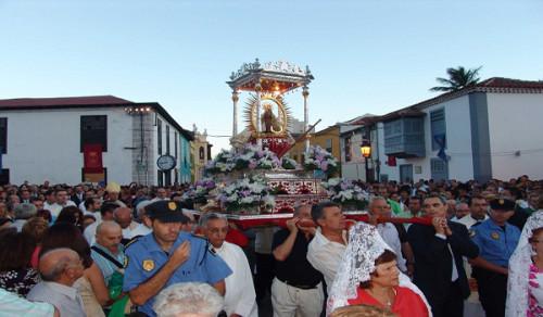 procesion virgen de guadaluoe islas canarias