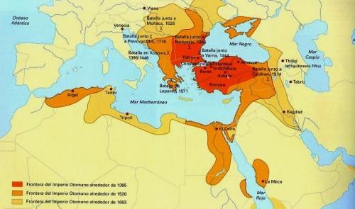 territorios ocupados por los turcos otomanos