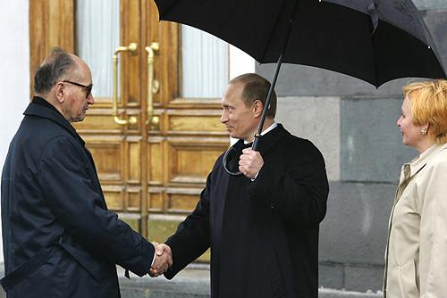 General Jaruzelski y Vladimir Putin