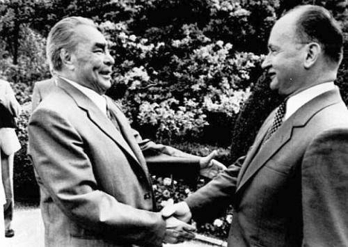 Leonidas Breznev lider de la URSS y el general Jaruzelski