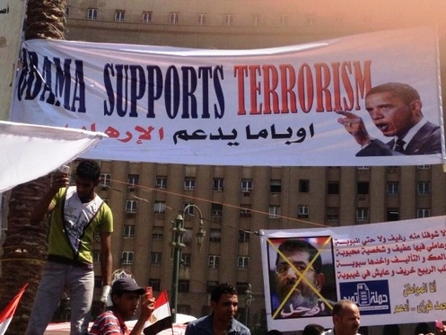cartel en egipto sobre obama