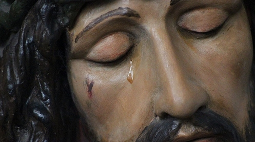 lagrima de cristo que llora en trujillo