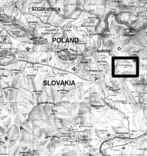 mapa de litmanova