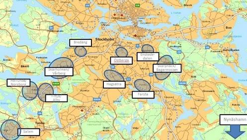 mapa de zonas criminales en estocolmo