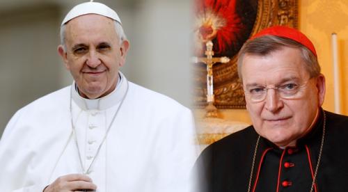 papa francisco y cardenal burke