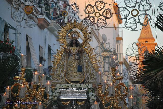 Resultado de imagen de Procesión de la Virgen de la Palma Coronada. Cádiz 2017