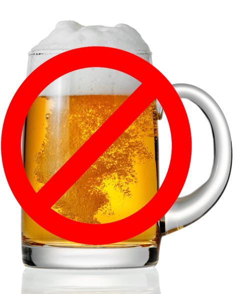 prohibido el alcohol