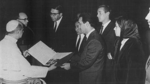 Ariel Ramirez y pablo VI