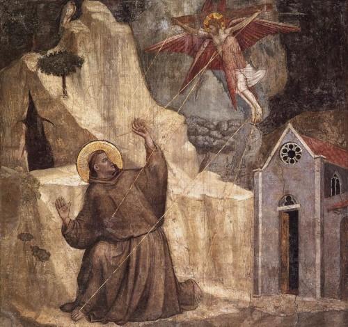 Giotto san francisco recibiendo estigmas