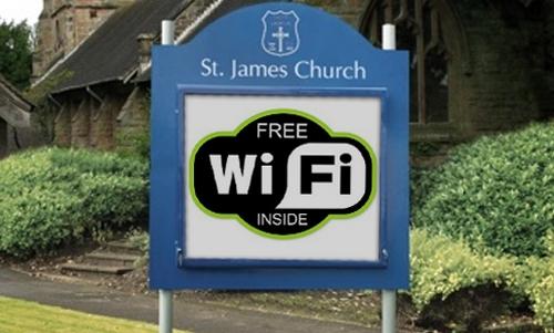 iglesia promociona wi fi