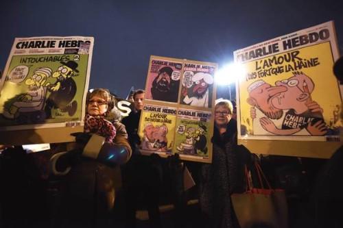 manifestacion en paris por charlie hebdo