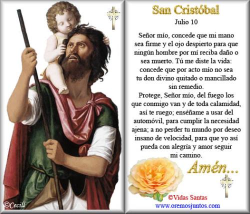 oracion a san cristobal