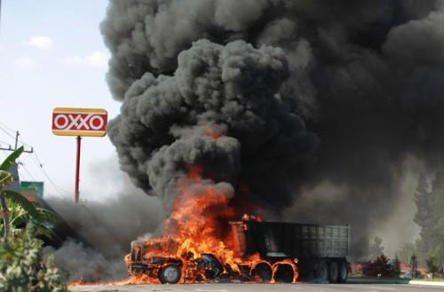 incendio narco mexico