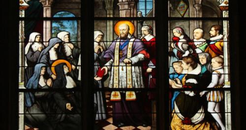 vitral de san francisco de sales