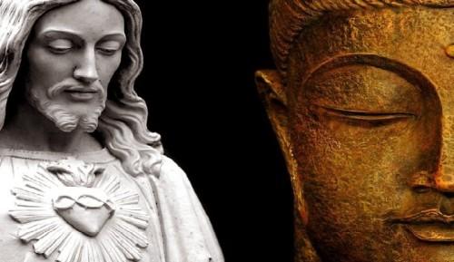 caras de jesus y buda